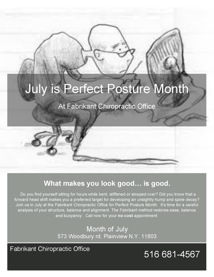 Plainview Chiropractor | Plainview chiropractic Perfect Posture Month |  NY |